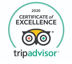 Tripadvisor - 2020 Certificate of Excellence